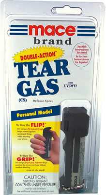 Mace Double-Action CS Tear Gas, Personal model for Michigan