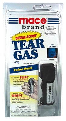 Mace Double-Action CS Tear Gas, Pocket model for Michigan