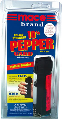 Mace 10% PepperGard Police Model - Min of 6 - SAVE 15%!