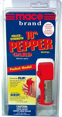 Mace Pepper Gard spray, Pocket Model w. keychain, 10% OC spray