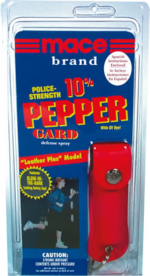 Mace Pepper Gard spray, Leather Plus w. keychain, 10% OC spray