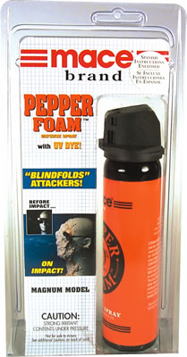 Mace Pepper Foam pepper spray, oc spray, Magnum Model