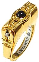 Stunning Ring, Pepper Spray Ring in Gold