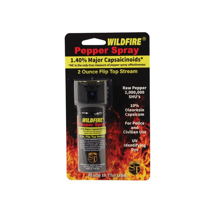 WildFire Pepper Spray, flip-top safety, stream pattern, 2 oz