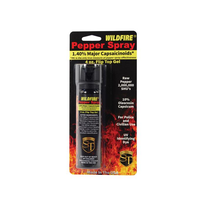 Wildfire 4oz Pepper Spray GEL, strongest 2Million SHU oc spray